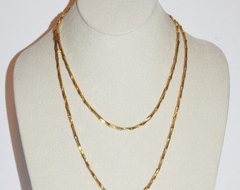 Joan Rivers Chain Necklace - Gold Tone 36 Inches                           - S1092
