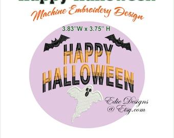 Happy Halloween Machine Embroidery Design Halloween Machine Embroidery Design Digital Download