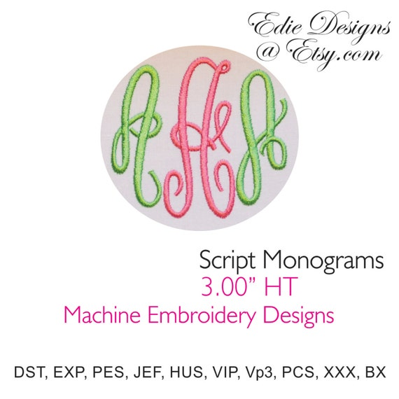script monograms machine embroidery designs bx by ediesdesigns