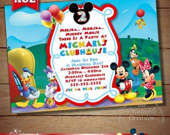 Mickey Invitations Etsy - Birthday invitation mickey mouse