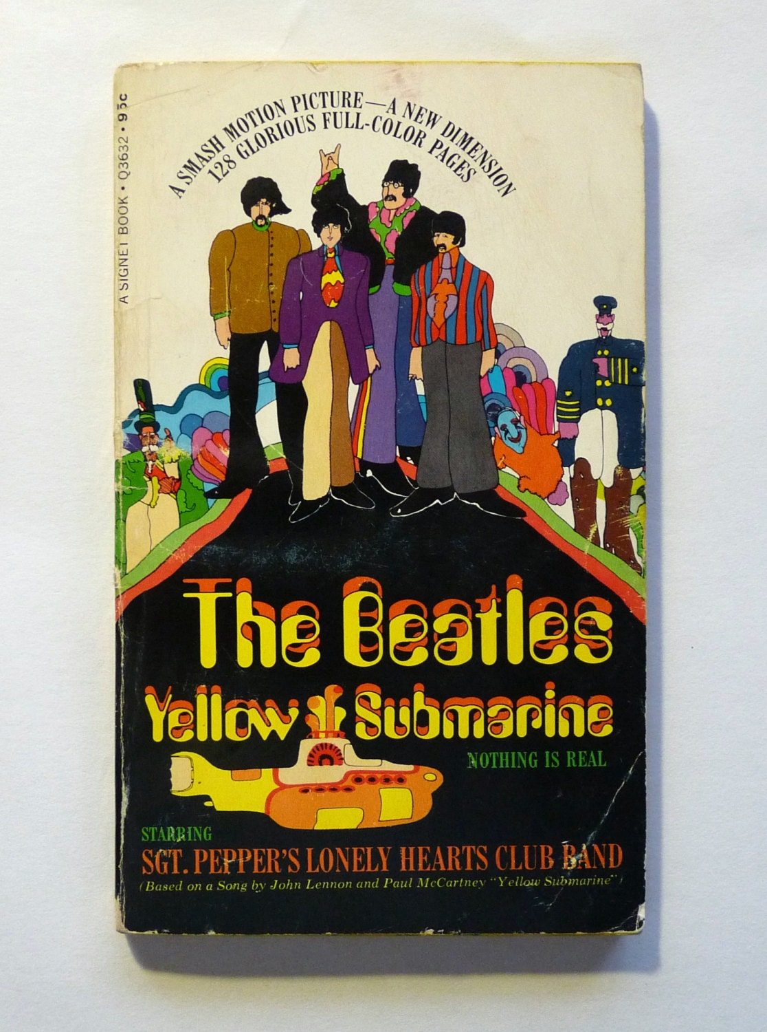 the beatles yellow submarine 1968 paperback book first. Black Bedroom Furniture Sets. Home Design Ideas