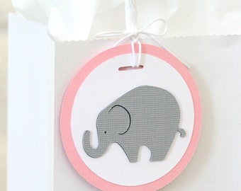 Elephant Gift Tags, Baby Shower Party Favor