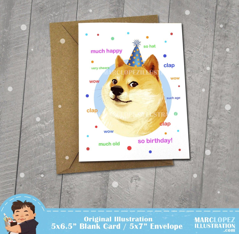 Doge meme birthday card 3100261 2ch afo bookmarktalkfo Choice Image
