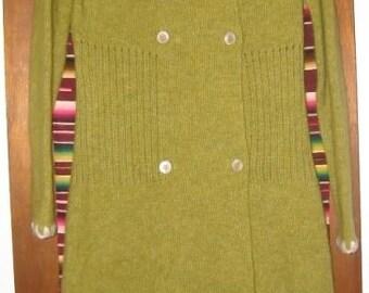 Womens Vintage Diktons Long Lightweight Knit Sweater Coat Sweatercoat S Small