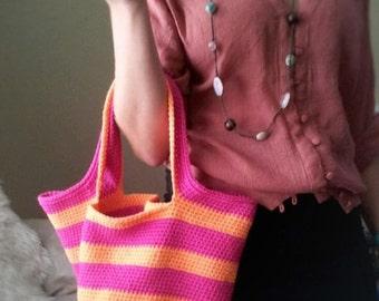 Colorful Crochet Tote