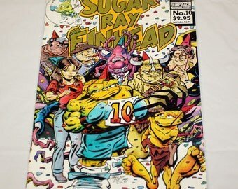 Sugar Ray Finhead Comic (1992 Vol. 1 Wolf/Jump Back) #10 SIGNED by Doug Baron 4-3-2010
