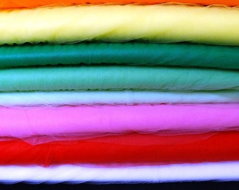 New, 54 Inch Nylon Tulle in Several Colors for Bridal, Costumes or Party Dresses, BY the YARD, Very Pretty, Colorful, Versatile Net Tulle