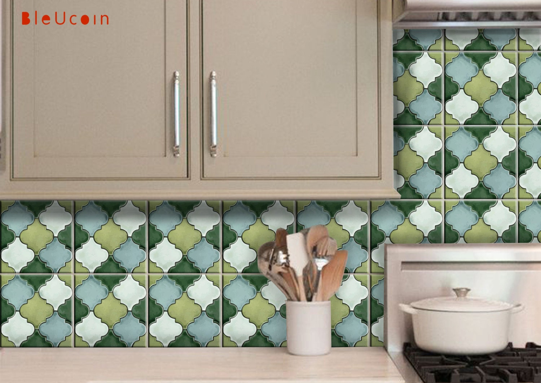 Penny Tile Stickers : Kitchen/ Bathroom Wall Tile Floor