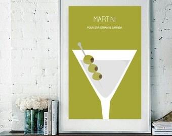 "Martini Art Print / Poster - 11"" x 17"""