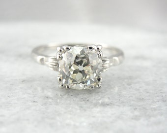 Stunning Two Carat Old Mine Cut Solitaire Diamond Engagement Ring DV48EY-P