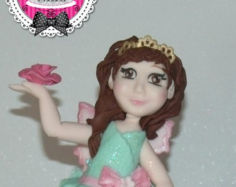 Fairy princess fondant cake topper