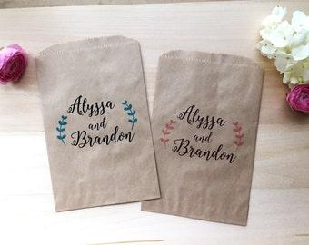 Custom Wedding Favor Bag / Candy Buffet Bags / Wedding Candy Bar Bags / Wedding Favors / Favor Bags / Treat Bags / Custom Favor Bags / Love
