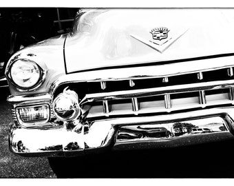 Monochrome Print Photo Art Print Wall Decor. Gift for Lovers of Classic Automobiles. Black & White Vintage Car Photography.