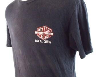 1987 Motley Crue Girls Girls Girls Vintage Rock Local Crew Concert T Shirt XL
