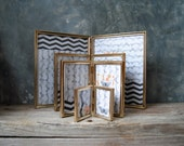 Vintage Gold Tone Metal Hinged Frames: Instant Collection Double Picture Frames, Wedding Decor