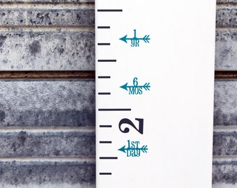 Height Marker for Growth Chart Ruler - Vinyl Decal Arrow with Feather - Measuring Mark