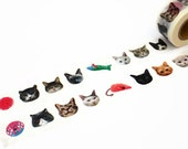 Cat Face Washi Tape by Maste