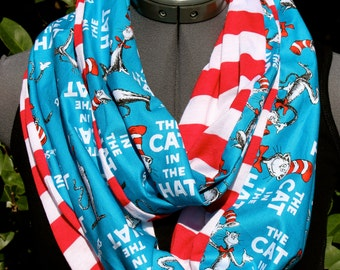 Dr. Seuss The Cat in the Hat Back to School Teacher Infinity Scarf -Limited Quantities