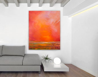 Fire Sky Giclee Print of Acrylic Painting