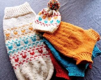 Cloth diaper cover, wool swaddle sack, wool diaper soaker, knit heart hat, newborn knit hat, newborn cloth diaper, cloth diaper set