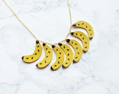 Handmade leather banana necklace