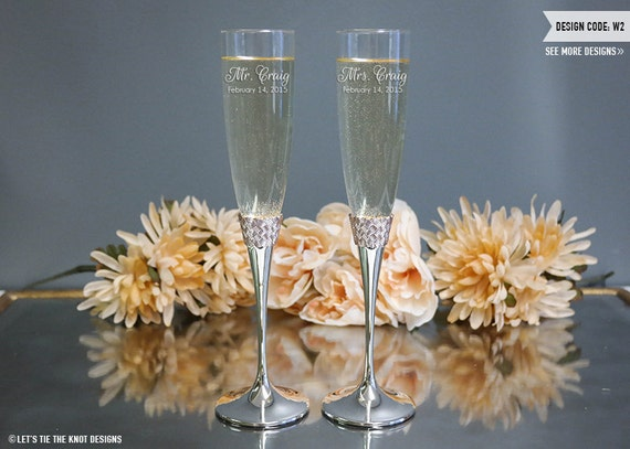 Lenox Wedding Gifts: Lenox Aegean Rose Champagne Flutes Set Of TWO Custom