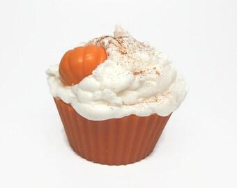Jumbo Pumpkin Pie Cupcake Candle