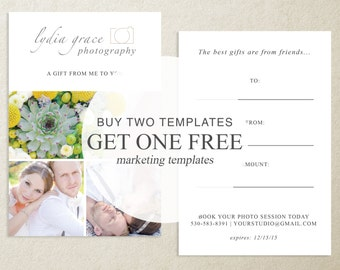 Buy Two Marketing Templates, Get One Free!