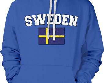Sweden Country Flag Sweatshirt, Swedish Pride, Sweden Flag, Sverige, Svenska  International Country Hoodies_ SWE-02_2tonehood