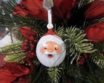 Spoon Santa,Painted Spoon Hand Painted Santa Claus Christmas Ornament Holiday Spoon Yewtinsel