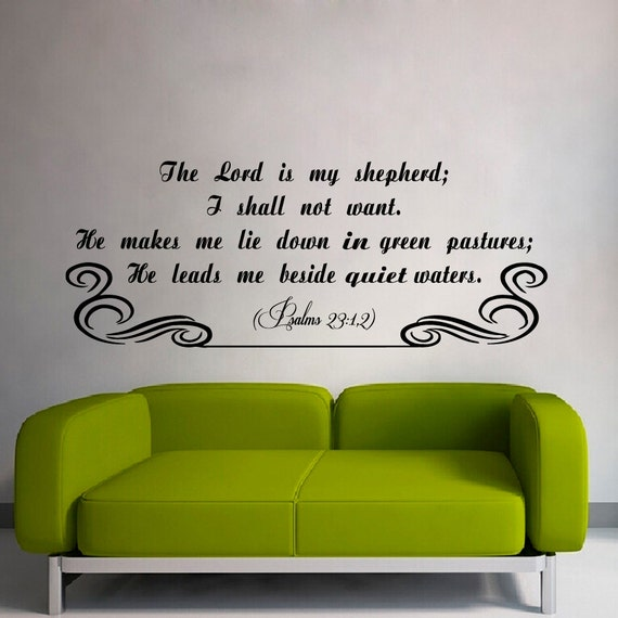 The Lord S Love Wall Decal: Items Similar To Wall Quotes The Lord Is My Shepherd Psalm
