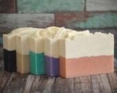 Sea Salt Soap Gift Pack, Five Salt Soaps Sampler, Soaps Grab Bag, Palm Free Soaps, Colorful Rustic Bricks, Modern Home Guide, Shampoo