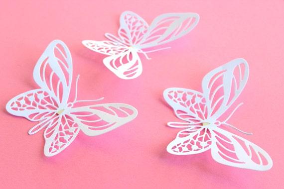 White paper butterflies large butterflies 3d by mydreamdecors for White paper butterflies