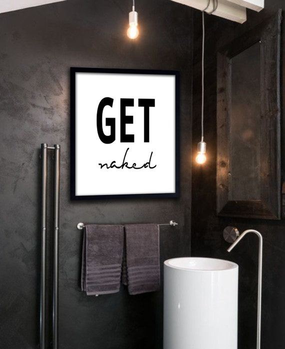 get naked poster printable file bathroom prints bathroom, Badezimmer