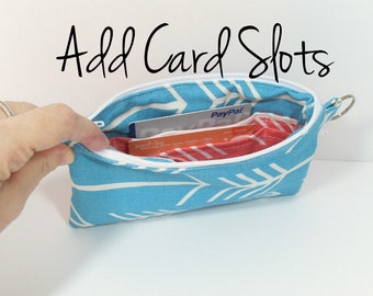 Card Slots Add On for Clutches and Wristlet Bags