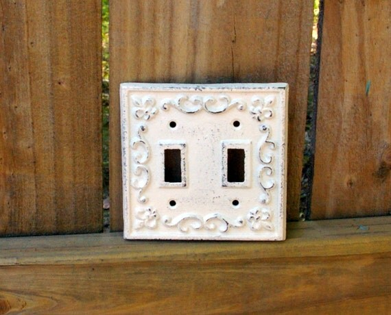 Cast iron double light switch cover by kandbcreativedesigns