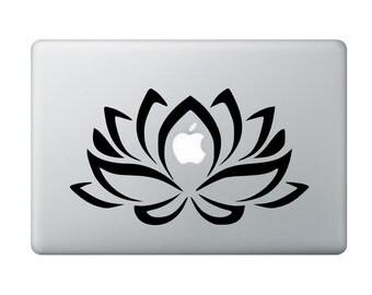 Big lotus flowers vinyl laptop mac book decal flower cut vinyl sticker decal