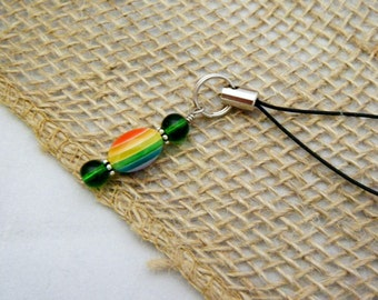Green Rainbow Cell Phone Lanyard