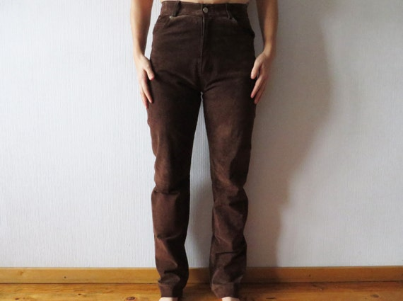 Cool Ralph Lauren Blue Label Leather Pants In Brown  Lyst