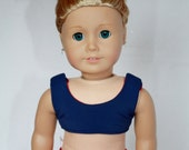 """Cheerleader Outfit for American Girl 18"""" Doll - Red and Navy"""