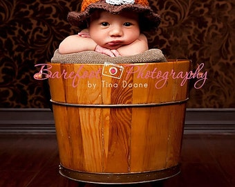 Newborn - 3 months:  Adorable Thanksgiving Pilgrim Baby Hat