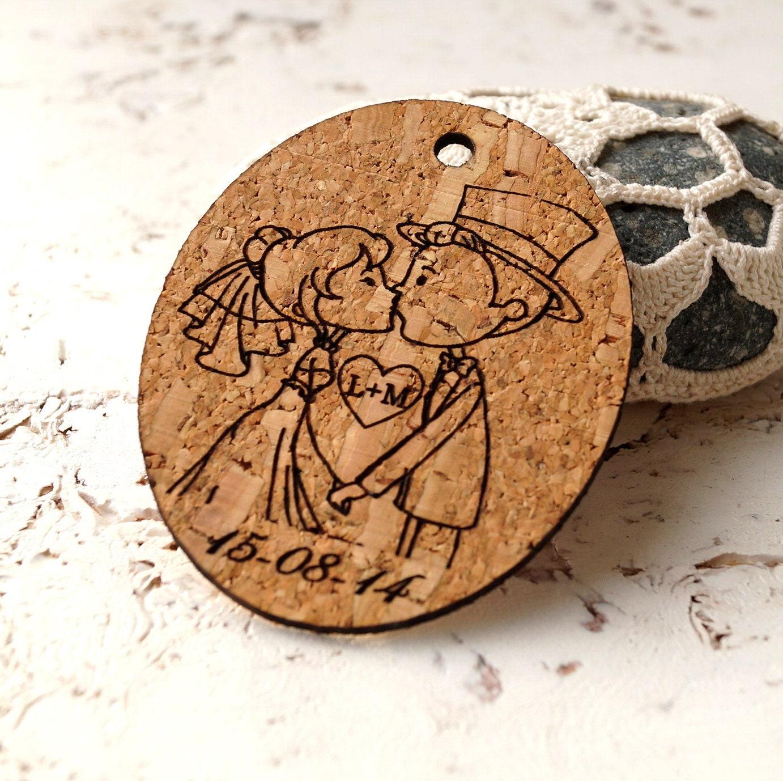 Rustic Wedding Gift Tags : Rustic wedding favor tags cork thank you tags vineyard favor