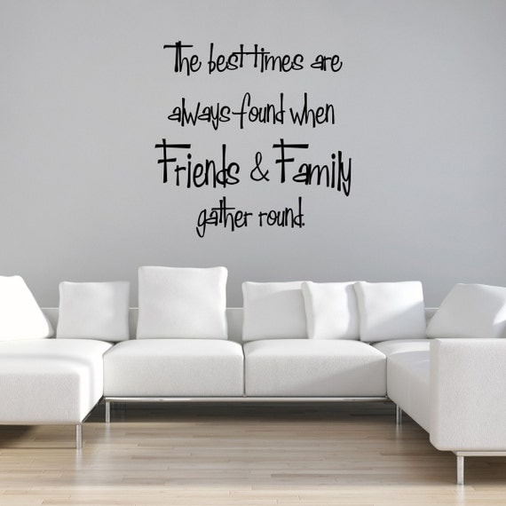 Family Friends Wall Decor : Family wall decal friends quotes art