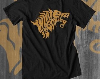 Winter is Coming Typography T shirts Game of Thrones T Shirt Stark Winterfell gifts gifts for him gifts for her thrones dragons knights