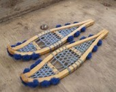 Vintage Toy Snow Shoes ~ Handmade Snow Shoes ~ Miniature Snow Shoes ~ Miniature Inuit Art