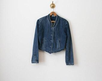 vintage 80s guess crop denim jacket