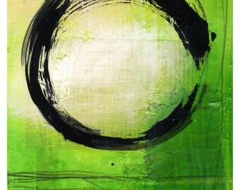 Enso No. mm13 ... Spiritual Zen Circle art archival print from original painting by Kathy Morton Stanion EBSQ