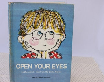 Open Your Eyes by Roz Abisch, Illustrated by Boche Kaplan, 1964, Vintage Picture Book, Vintage Children's Book