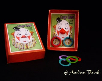 Vintage Toss Game - Silly Sam / Der dumme August - Artisan Handmade Miniature