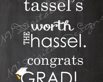 Graduation Chalk sign- Graduation Chalkboard poster- Digital File